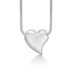 Randers Sølv hjerte Halskæde med vedhæng i sølv