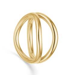 Randers sølv ring i 14 karat guld