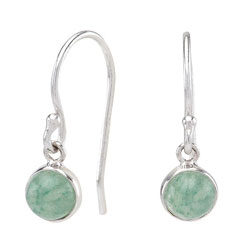 Nordahl Andersen runde grønne øreringe i sølv grønne aventuriner