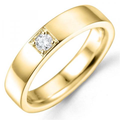 Bestillingsvare - diamantring i 14 karat guld 0,10 ct