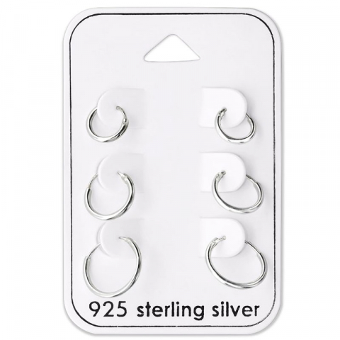 8 x 10 x 12 mm creoler i sølv