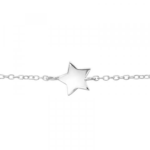 Stjerne armbånd i sølv med vedhæng i sølv