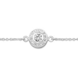 Rundt armbånd i sølv med vedhæng i sølv
