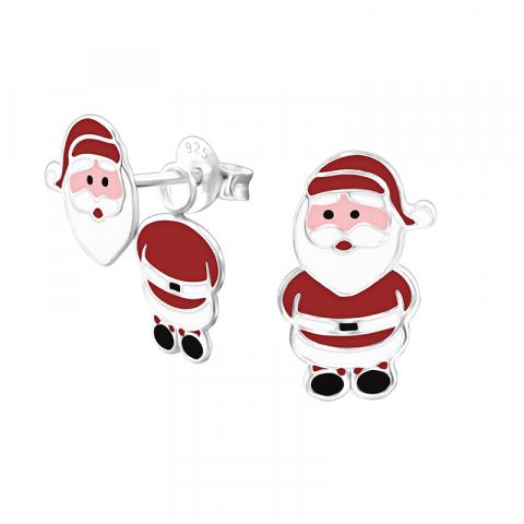 Søde julemand øreringe i sølv