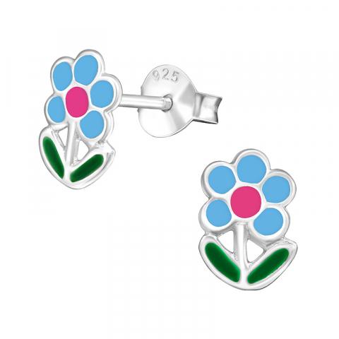 Søde blomster øreringe i sølv