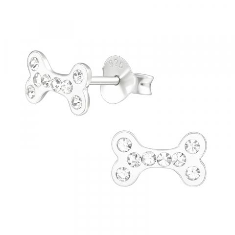 Kødben øreringe i sølv