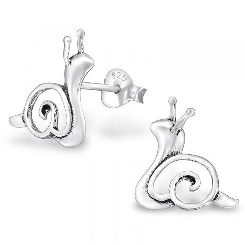 Søde Snegle øreringe i sølv