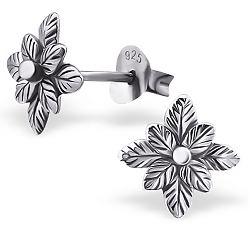 Flotte blomster øreringe i sølv