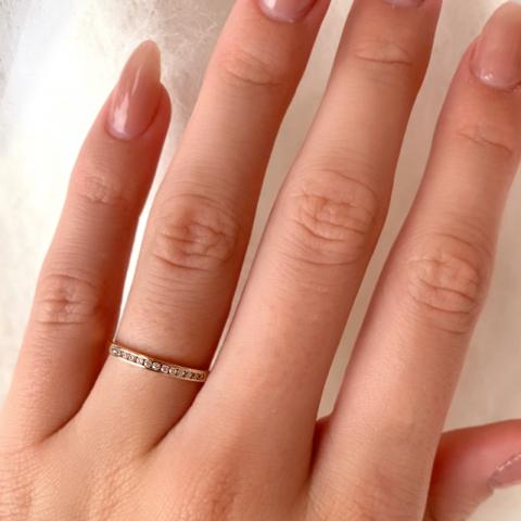 Smal ring i 9 karat rødguld