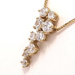 Abstrakt halskæde i 9 karat guld