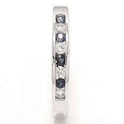 bestillingsvare - blå safir ring i 14 karat hvidguld 0,12 ct 0,20 ct