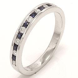 bestillingsvare - safir ring i 14 karat hvidguld 0,17 ct 0,24 ct