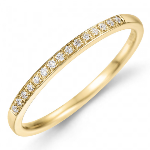 Diamant ring i 14 karat guld 0,09 ct