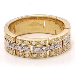 diamant guld ring i 14 karat guld.- og hvidguld 0,29 ct