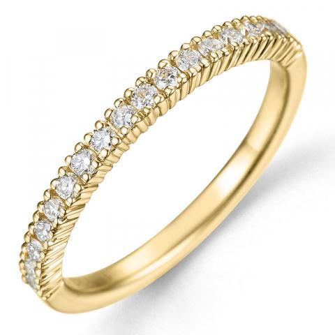 smal diamantring i 14 karat guld 0,27 ct