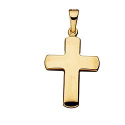 Scrouples kors vedhæng i 8 karat guld
