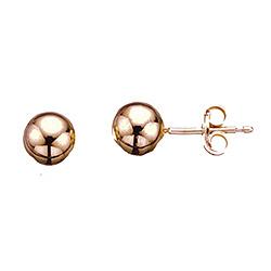 6 mm Scrouples kugle øreringe i rosabelagt sølv