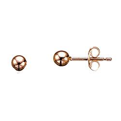 5 mm Scrouples kugle øreringe i rosabelagt sølv