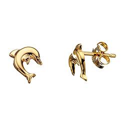 Scrouples delfin øreringe i 8 karat guld