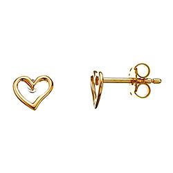 Smarte Scrouples hjerte øreringe i 8 karat guld