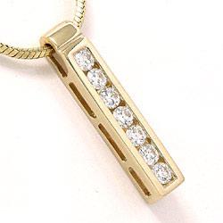 Diamantvedhæng i 14 karat guld 0,36 ct
