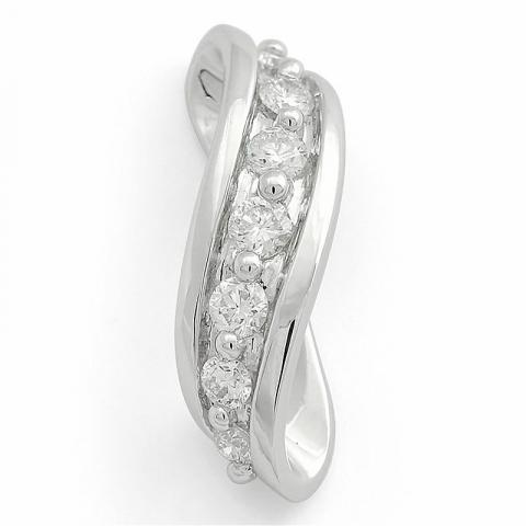 Diamant vedhæng i 14 karat hvidguld 0,25 ct