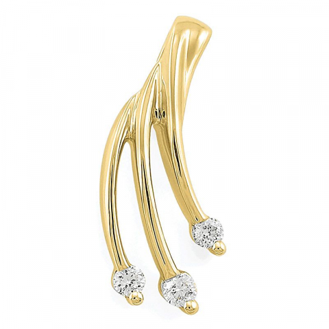 Diamant vedhæng i 14 karat guld 0,07 ct