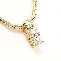 Diamantvedhæng i 14 karat guld 0,20 ct