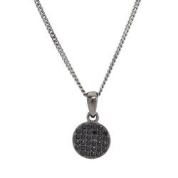 Joanli Nor halskæde i sort rhodineret sølv sorte zirkoner