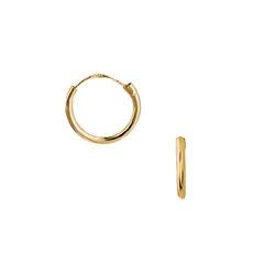 10 mm Aagaard creoler i 8 karat guld