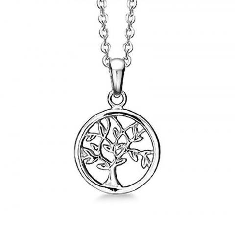 13 mm aagaard livets træ vedhæng med halskæde i sølv