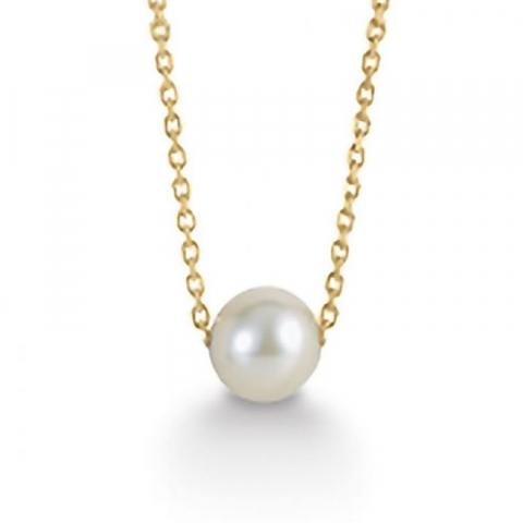 6 mm Aagaard perle vedhæng med halskæde i 8 karat guld