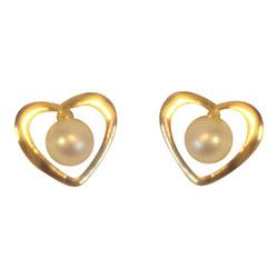 Aagaard hjerte øreringe i 8 karat guld