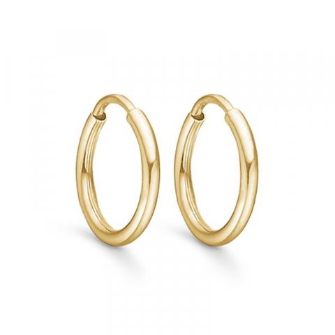 10 mm Støvring Design creoler i 14 karat guld