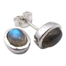 Ovale øreringe i sølv