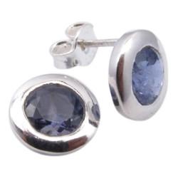 Smukke iolit ørestikker i sølv