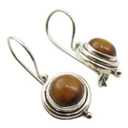 Runde øreringe i sølv