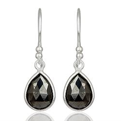 Smukke dråbe øreringe i sølv