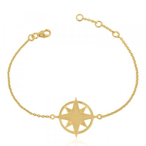 Stjerne armbånd i forgyldt sølv med stjerne i forgyldt sølv