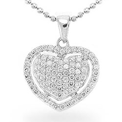 Flot hjerte vedhæng i sølv
