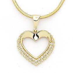 Smart hjerte vedhæng i 14 karat guld