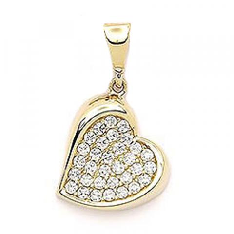 Smukt hjerte vedhæng i 14 karat guld