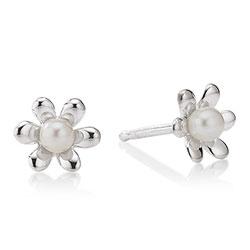 Pæne Aagaard blomst øreringe i sølv
