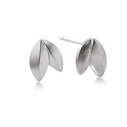 Matte Kranz og Ziegler blad øreringe i sølv