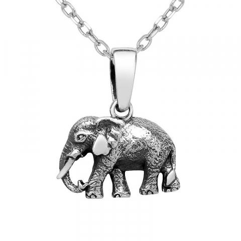 Fint elefant vedhæng i sølv