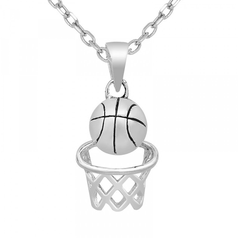 Lille basketball vedhæng i sølv