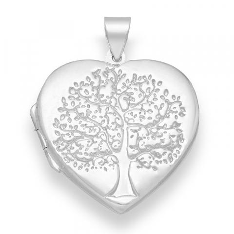 hjerte livets træ vedhæng i sølv
