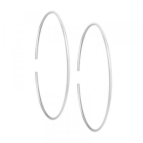 Ovale creoler i sølv