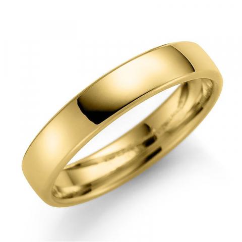 Blank 4 mm vielsesring i 9 karat guld