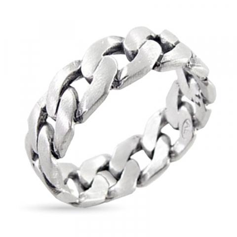 panser ring i sølv